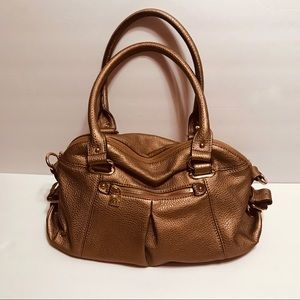 Anne Klein Metallic Golden Handbag